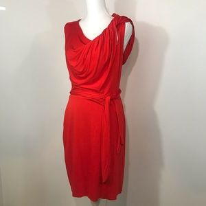Trina Turk Raven Red One Shoulder Dress- Size 10